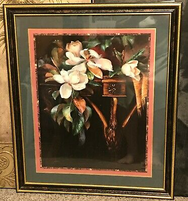 $59.99 • Buy Homco Home Interiors Large Picture 26  X 22  Magnolia Blossoms With Leaves