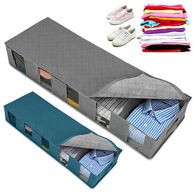 Large Capacity Under Bed Storage Bag Box 5 Compartments Clothes Shoes Organizers • 7.78£