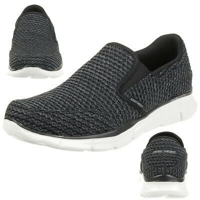 Skechers Equalizer Slickster Men's Slippers Moccasin Slip On Black • 48.03£