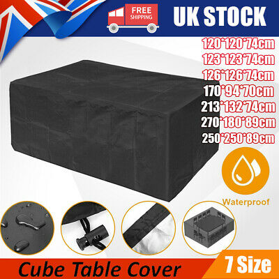 Outdoor Cover Garden Furniture Waterproof Patio Rattan Table Cube Set 7 Sizes UK • 9.99£