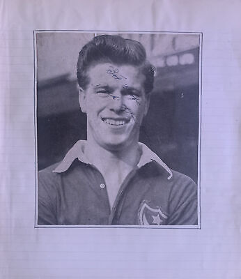 Signed 1950s John Jackie Henderson Portsmouth  FC X27  Football Autograph • 9.99£