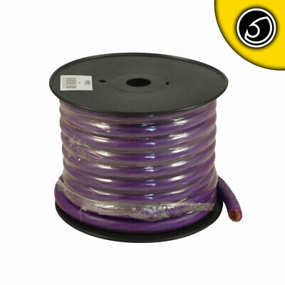 Bassface PWP0.2 OFC 0AWG 53mm Purple Power Wire Cable Spool 15m 5250 Strand • 202.99£