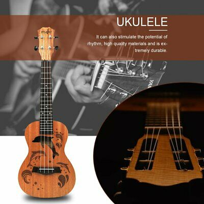AU39.38 • Buy Soprano Ukulele Uke Hawaii Guitar Sapele 4 Strings Wood Musical Instrument