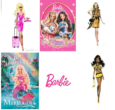BARBIE Drawing  Girls Room Poster/print A4/A3 • 4.50£