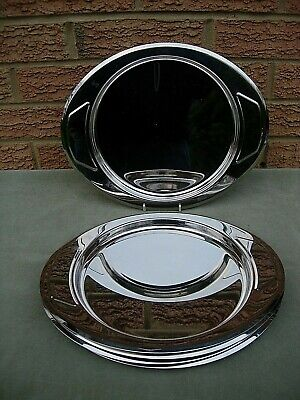 Vintage Zepter Serving Tray Stainless Steel 18/10 Large Oval Made In Italy   • 15£