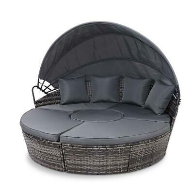 AU839 • Buy Outdoor Lounge Setting Patio Furniture Sofa Wicker Rattan Garden Set Table Grey