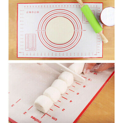Large Non Stick Sheet Liner Dough Silicone Cooking Mat Oven Baking Tray Pastry  • 4.45£