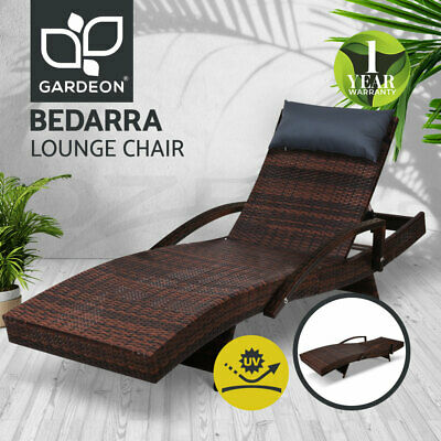 AU159.95 • Buy Gardeon Outdoor Sun Lounge Furniture Setting Rattan Wicker Lounger Garden Patio