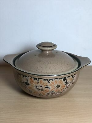 Vintage Denby Sumatra Casserole Dish For One With Lid • 10£