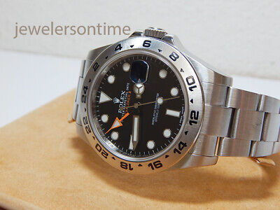$ CDN10519.82 • Buy Rolex Explorer II 16570  F  SEL Black Dial No Holes Case Warranty 40mm
