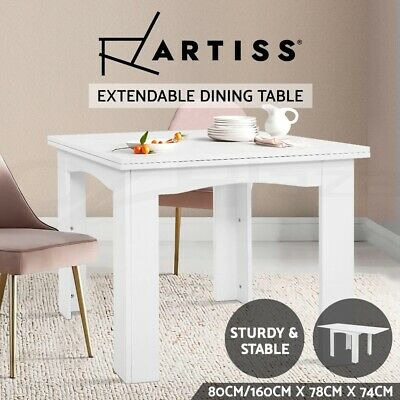 AU125.95 • Buy Artiss Dining Table Extendable 6 Seaters Wooden Kitchen Tables White Restaurant