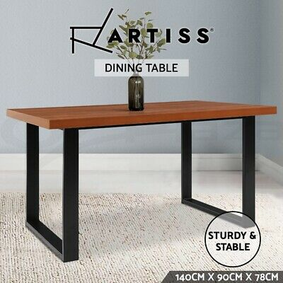 AU259.95 • Buy Artiss Dining Table 6 Seater Wooden Kitchen Tables Cafe Oak Black