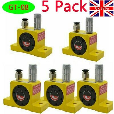 5Pc Industrial Type Pneumatic Compressed Air Power Turbine Vibrator GT-08-Golden • 87.59£