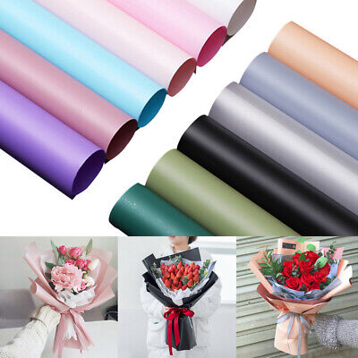 Waterproof Translucent Paper DIY Flower Bouquet Wrapping Paper Gift Packing 20 • 6.08£