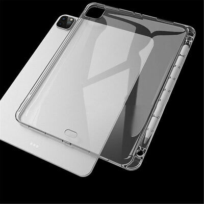 AU11.75 • Buy For IPad Pro 11  2021 Air 4 10.9  8th 10.2  Clear Soft Case Cover+Pencil Holder