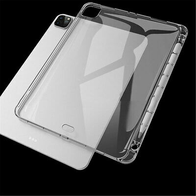 AU11.32 • Buy For IPad Pro 11  Air 4 10.9  8th 10.2  2020 Clear Soft Case Cover+Pencil Holder