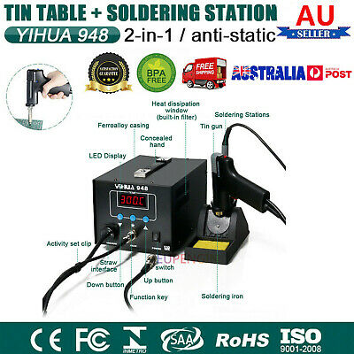 AU179.99 • Buy YIHUA 948 2 In 1 LCD Soldering Iron Desoldering Station Vacuum Pump Gun ESD Safe