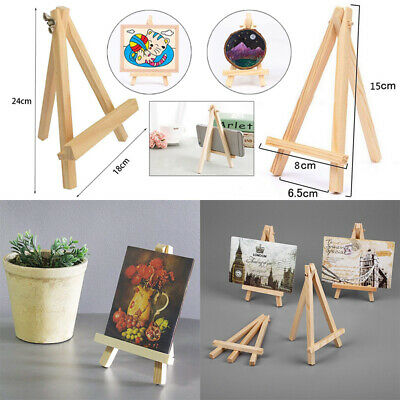 10X Wooden Mini Easel Pine Wood Dispaly Canvas Art Craft Table Stand Wedding UK • 6.02£