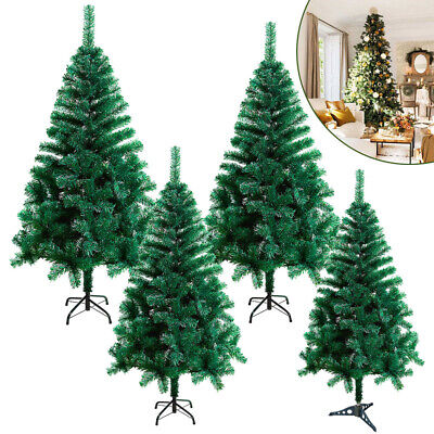 Christmas Tree Traditional Xmas Metal Stand Decorated 4-7ft Artificial White • 17.99£