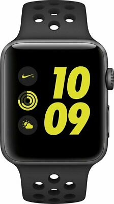 $ CDN163.36 • Buy Apple Series 2 42mm Aluminum Case Smart Watch With Black Sport Band - Gray