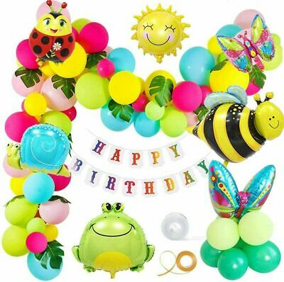 £9.39 • Buy Insect Bee Sun Animal Foil Balloon Happy Birthday Banner Birthday Party Decor