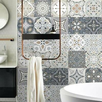 24Pc Kitchen Tile Stickers Bathroom Mosaic Sticker Self-adhesive Wall Home Decor • 2.99£