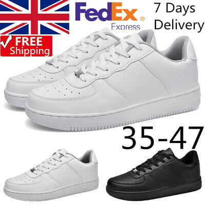 Mens Womens White Air Force 1 Basketball Sneakers Sports Running Casual Shoes UK • 18.99£