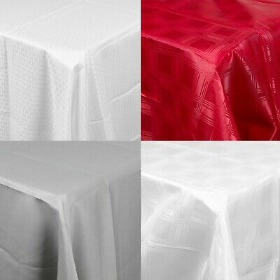 Decorative Damask Rectangle Tablecloths Covers Oblong Tableware Dinning Décor   • 9.99£