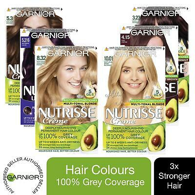 £12.99 • Buy 3 Pack Garnier Nutrisse Permanent Hair Dye With Different Shades