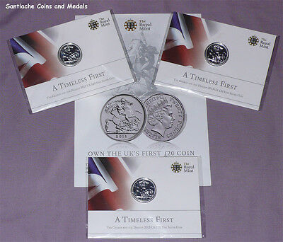£27 • Buy 2013 Royal Mint Silver £20 Coin - St George & Dragon - Mint Sealed