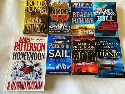 AU16.99 • Buy 8 X James Patterson Books - Bulk Lot - NYPD Red/Sail/Zoo/The Beach House +