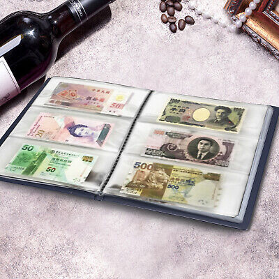 £12.99 • Buy 60 Pockets Paper Money Album Collection Banknote Stamps Book Soft Leather Note