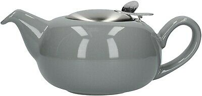 London Pottery Pebble 2 Cup Teapot With Infuser Gloss Light Grey....... • 10.99£