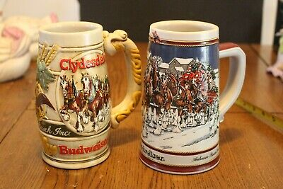 $ CDN12.44 • Buy Lot Of 2 Budweiser Beer Steins