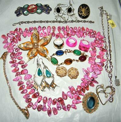 $ CDN40.08 • Buy Lot Of  Vintage Estate Jewelry Incl Sterling, Signed And QVC  - 17 Pcs
