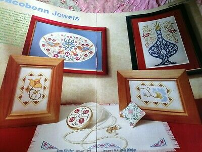 Cross Stitch Chart Jacobean Style Floral Set Charts Only Flowers  • 1.99£