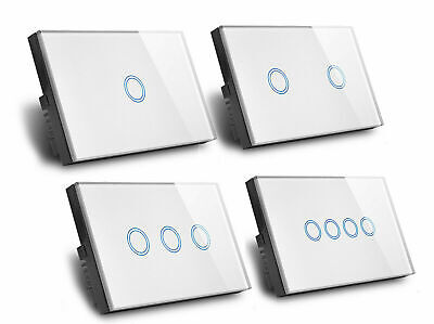 AU21.36 • Buy Touch Wall Light Switch LED 1/2/3 Gang 1way Touch Glass Switch AU Certified