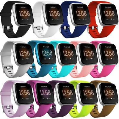 $ CDN15.46 • Buy For Fitbit Versa / 2 Lite Silicone Wrist Strap Wristband Replacement Watch Band