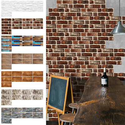 Vinyl Self-adhesive 3D Brick Tile Wall Stickers Kitchen Bathroom Wall Art Decal • 21.99£