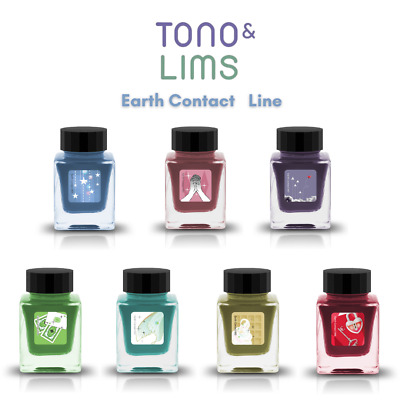 $ CDN70.40 • Buy TONO&LIMS Fountain Pen Bottle Ink Earth Contact Line All 7 Colors Dye Ink 30ml