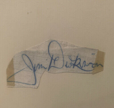 Signed Jimmy Dickinson Portsmouth FC England Football 1950s Autograph Book Page • 5.99£