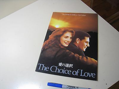 $ CDN5.68 • Buy  The Choice Of Love   Dying Young  1991 Japanese Movie Program Julia Roberts