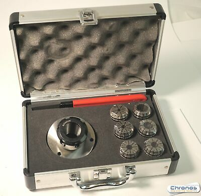 ER32 Collet Set With 80 MM Diameter Lathe Chuck From Chronos • 84.95£