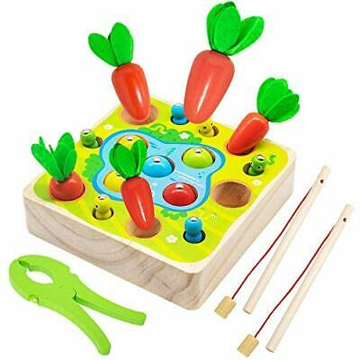 Wooden Toys For 1 Year Olds,Gils Montessori Shape Size Sorting • 24.29£
