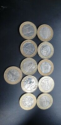 11 X £2 Coins Two Pound Coin Job Lot Bundle 4×50 Pence's  • 25£