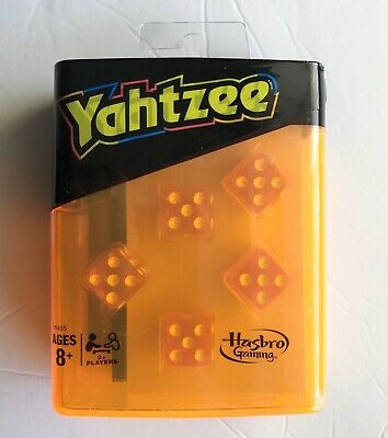 AU18.41 • Buy Yahtzee Neon Pop Board Game Strategy Game With Dice, Hasbro Travel Size Game NEW