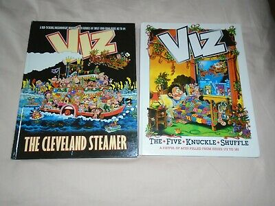 2 X Viz Books  /5 Knuckle  Shuffle  /the Cleveland Steamer • 3£