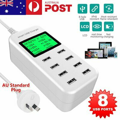 AU31.79 • Buy Pro USB Hub 8 Port Charging Stations Desktop Wall Fast Charger Multi Function AU