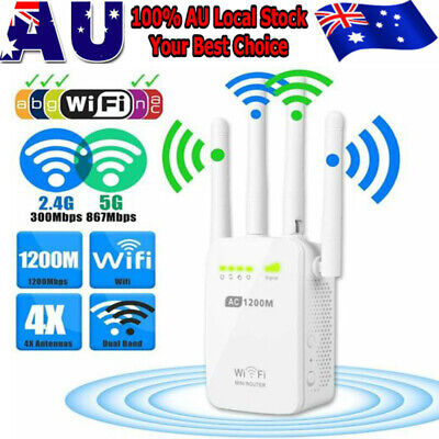 AU51.99 • Buy Dual-Band Wifi Extender Repeater Wireless Router Range Network Signal Booster AU