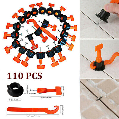 110pc Tile Leveling System Kits Leveler Tile Spacer Wall Floor Tool Construction • 9.39£